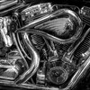 Motorcycle engine_tonemapped_Topaz_Nik_B&W