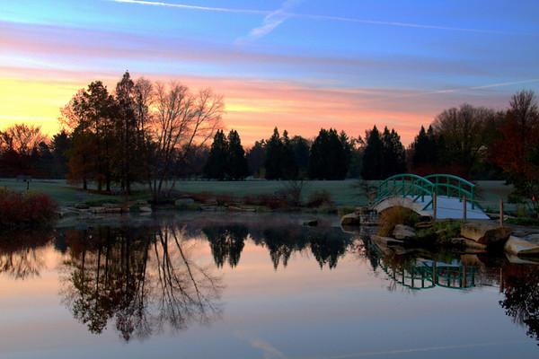 Sunrise At Cox Arboretum