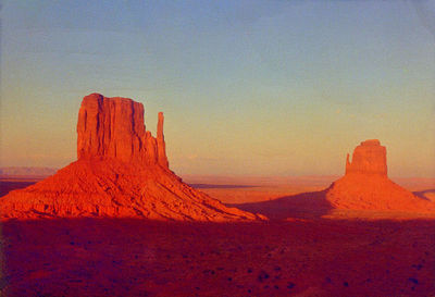 monument valley sunset, sept 1968