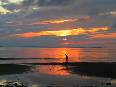 sunset, The Cottage, River John, Nova Scotia, july 19, 2008