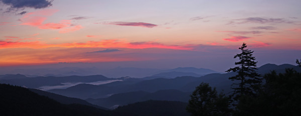 Before sunrise shot from near Mount Mitchell State Park entrance off the Blue Ridge Parkway