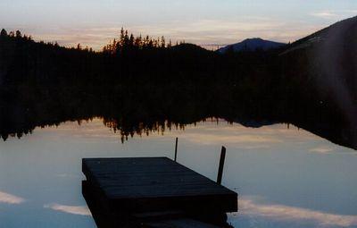 Wilber Lake sunset, Parson, BC Aug 1998