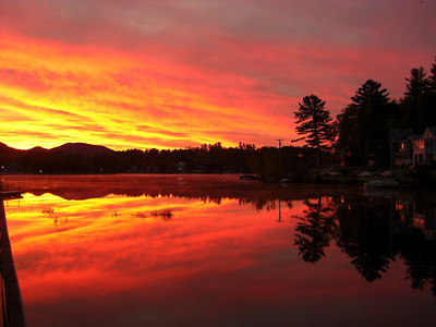 Lake Flower, sunrise, oct 17, 2007