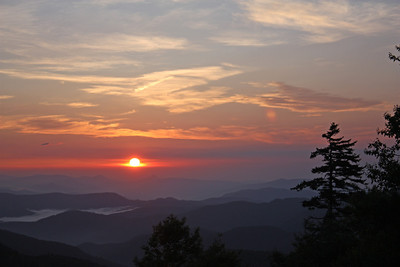 Sunrise near Mount Mitchell taken from the Blue Ridge Parkway