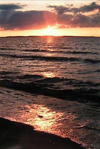 Cape Breton, Nova Scotia, sunset aug 1973