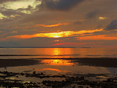 sunset, The Cottage, River John, Nova Scotia, july 19, 2008 CIMG2404a
