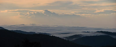 Early morning from Highway 181 between the Blue Ridge Parkway and Morganton, NC