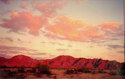 Gila Mts , near Yuma AZ, apr 8, 1991