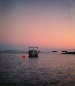 Sunset, Hubbards, Nova Scotia, aug 1978,