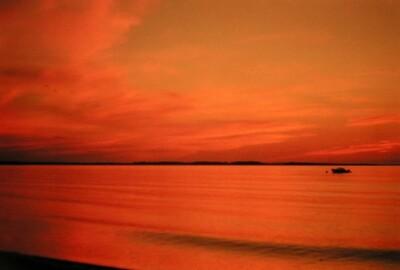 Nova Scotia, at River John on the north shore, sunset, aug 1978a
