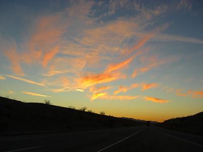 nov 7, 2007, sunset on I-40 near Needles, CA