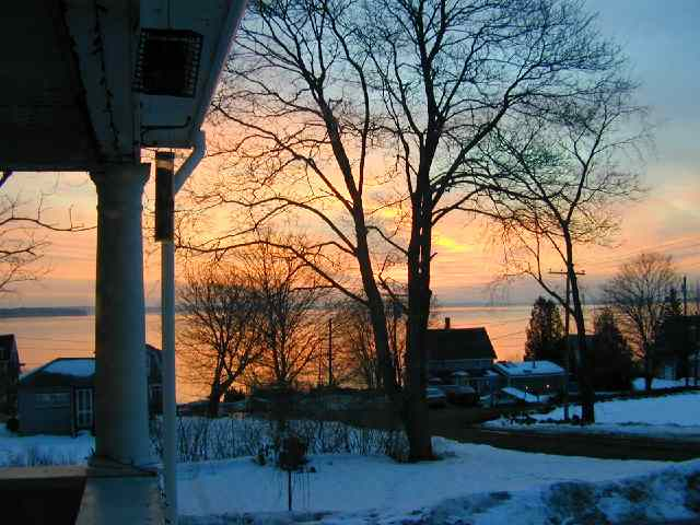 First Sunrise of the new century ~ from Condon Street ~ Jan 1, 2000