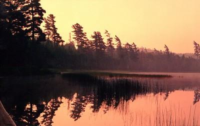 Sand Lake dawn, Five Ponds Wilderness, Adks, NY July 1988