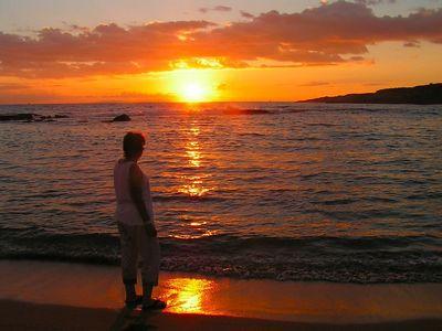sunset at Salt Pond Beach, Hanapepe, aug 27, 2005a