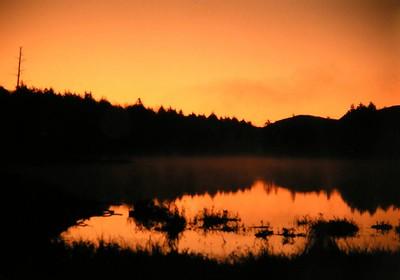 Mud Lake, Adks, NY dawn, oct 13, 1989a