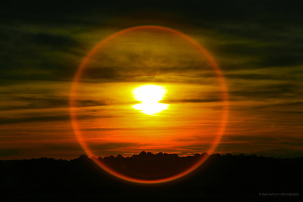 Full Circle<br /> <br /> The perfect circle is from a natural lens flare.