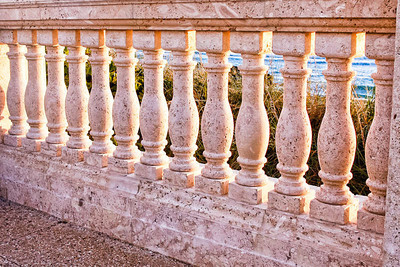 Detail of the balustrade near the clock tower.