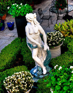 Statue in a courtyard.