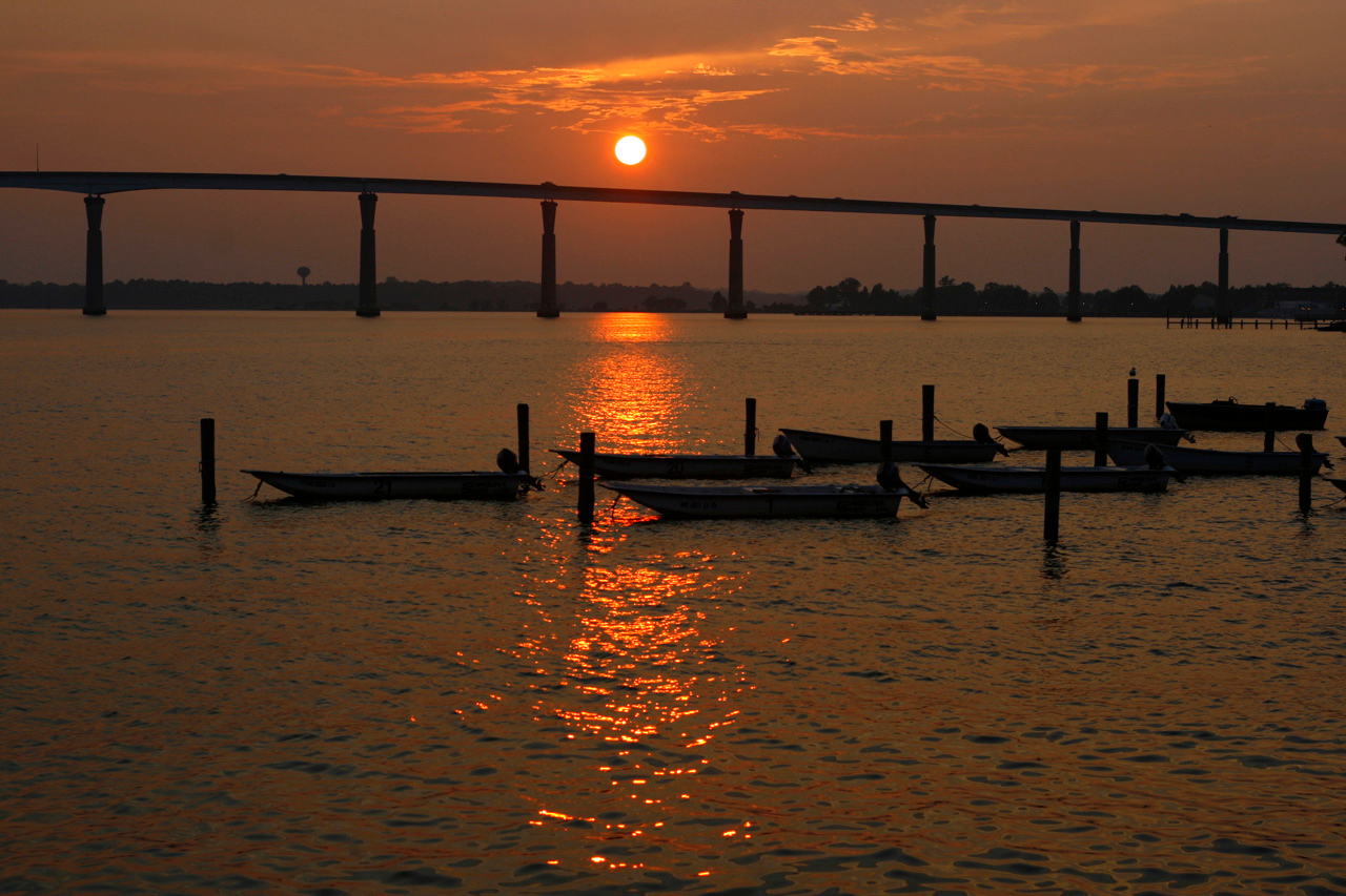 TJ Johnson Bridge from Solomons Island