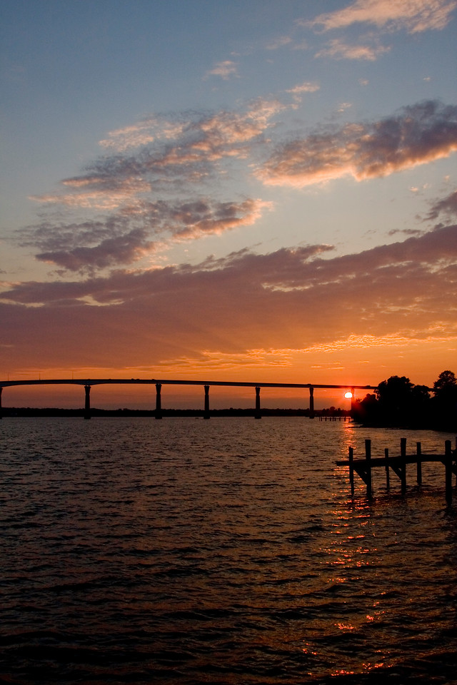 Some of the best sunsets in the Southern Maryland area are watched from the boardwalk at Solomon's Island. The VERY best sunsets are seen from the bridge while you are driving over it. Why do they never install scenic overlooks on bridges :)<br /> <br /> I'll try to catch up with commenting over the long weekend, there are just so many of us now in the dailies :)