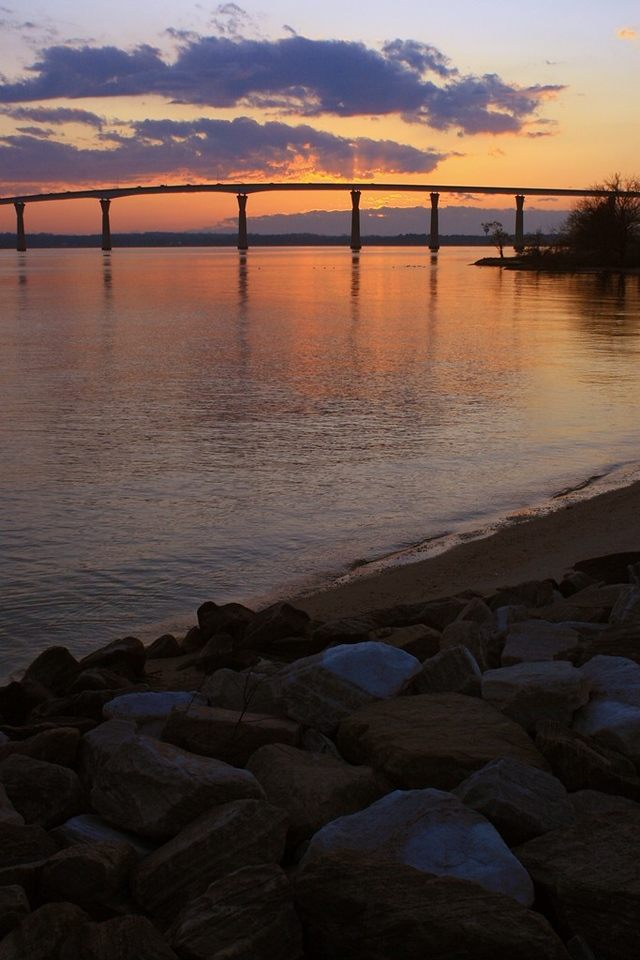 Sunset Over the TJ Johnson Bridge