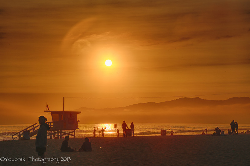 Sunset on Venice Beach CA June 2013