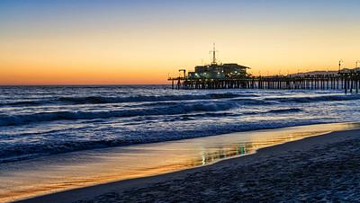 Santa Monica Pier Ca Sunset