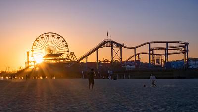 Santa Monica Ca Pier Sunset