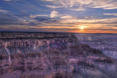 A Grand Canyon sunset