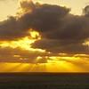 Sunset in Del Mar at Torrey Pines beach