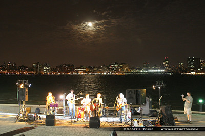 band outside of sinatra park hoboken, nj