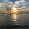 Sunrise on Sam Rayburn Lake, Texas.