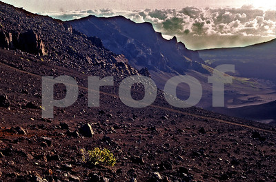 The Haleakala Extinct Volcano Crater on Maui