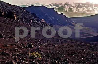 The Haleakala Extinct Volcano Crater on Maui