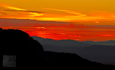 """Red Rising"", Sunrise, Mt. Lemmon, Arizona, 10/16/10"