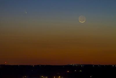 Comet Panstarrs over Berryville, AR 3-12-13