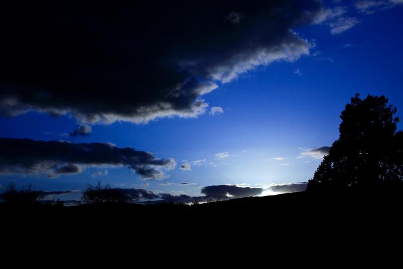 Skyscape over the Malvern Hills