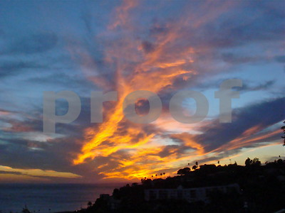 Sunset over Pacific Palisades, CA