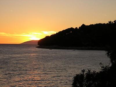 sunset over Drvenik, Croatia. August 2004