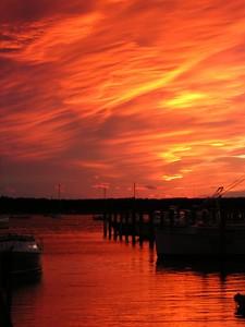 sunset Nov 8, 2004 -Padanaram harbor from Concordia's North Dock