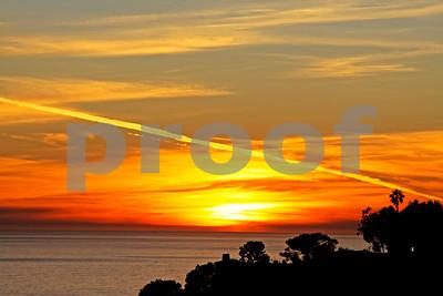 Contrail Sunset