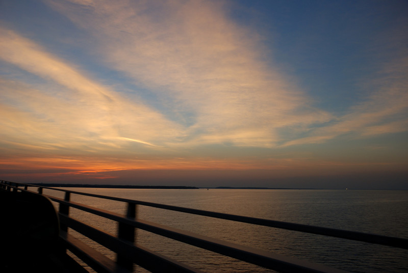 Chesapeake Bay Bridge, 50mph, from the backseat.
