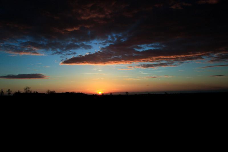 Sunset near Melton Mowbray