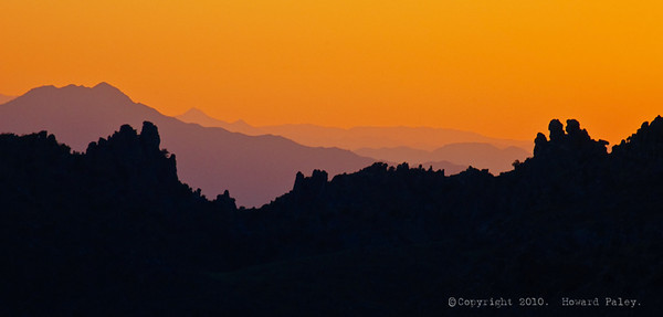 """Ridgeline at Dusk"", Mt. Lemmon, Tucson, Az., 09/09/10."