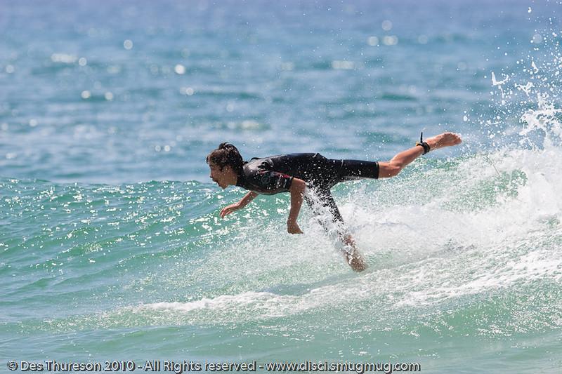 """Oops!"" - Burleigh Heads - Surfing - Lens Test, ""The Spit"" & Burleigh, Gold Coast , Queensland, Australia, Friday 24 September 2010."