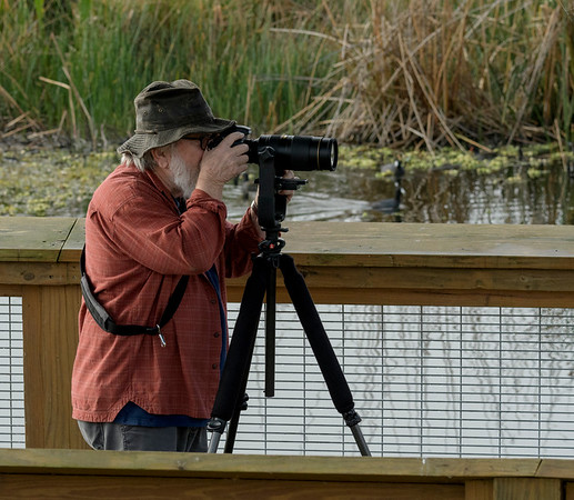 Me at work in Payne's Prairie State Park. Photo by Larry Jordan.