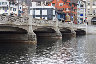 Bridge over Limmat River - Zurich