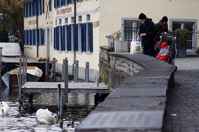 Riverbank, Limmat River - Zurich