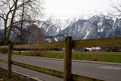 Roadway near mountains - Interlaken
