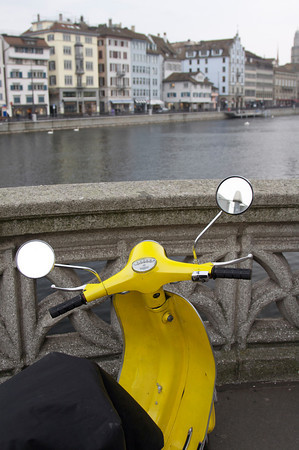 Scooter by Limmat River - Zurich